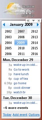 Google Calendar: A desktop diary widget
