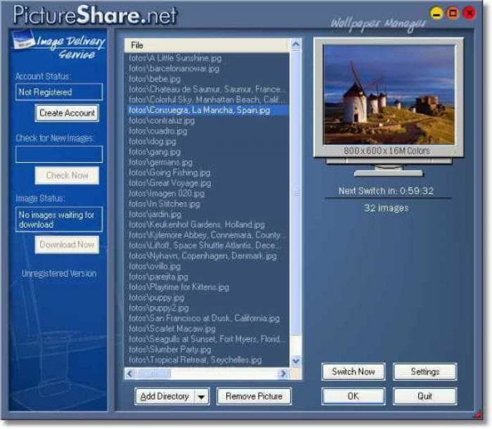 PictureShare.net Wallpaper Manager