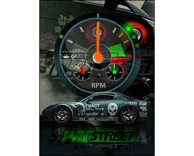 NFS Pro Street Race Clock screensaver