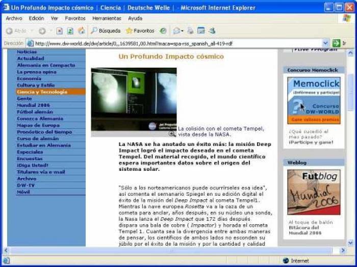 Noticias en tu PC