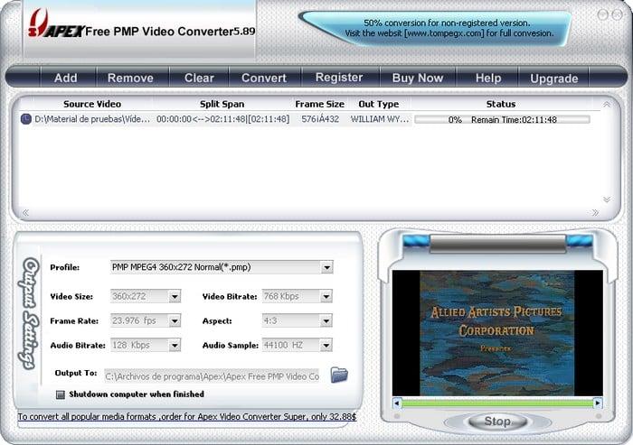 Apex Free PMP Video Converter