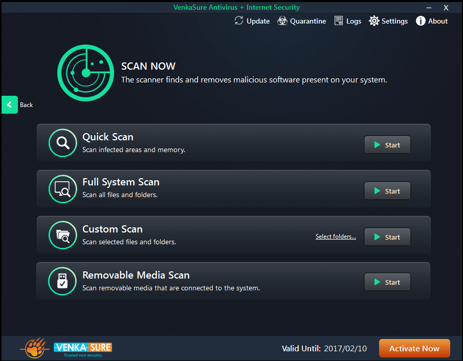 VenkaSure Antivirus + Internet Security