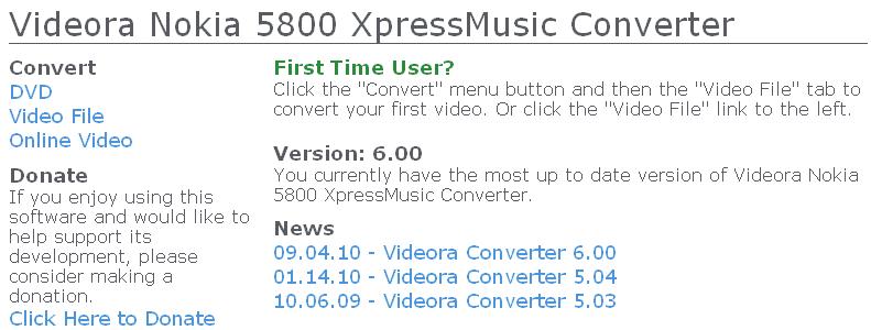 Videora Nokia 5800 Converter