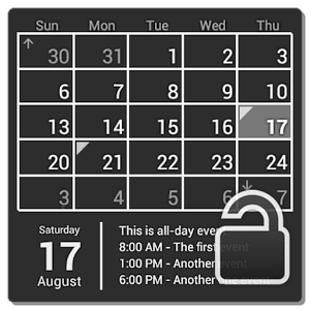 Calendar Widget (key) 1.1