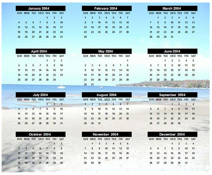 EZ Photo Calendar Creator