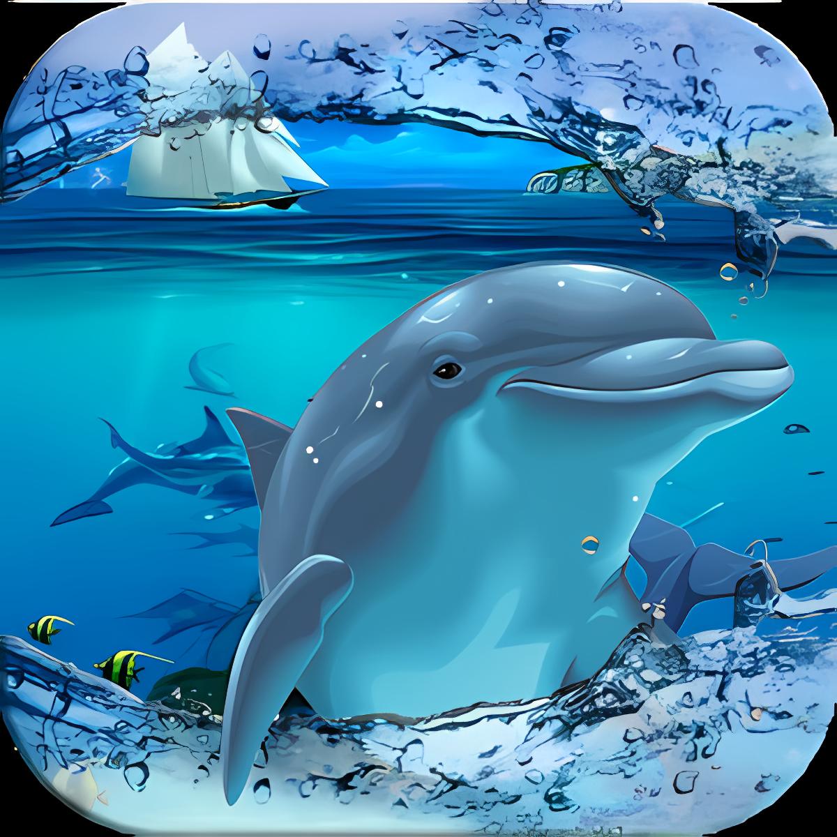 Mar delfines nadando 28