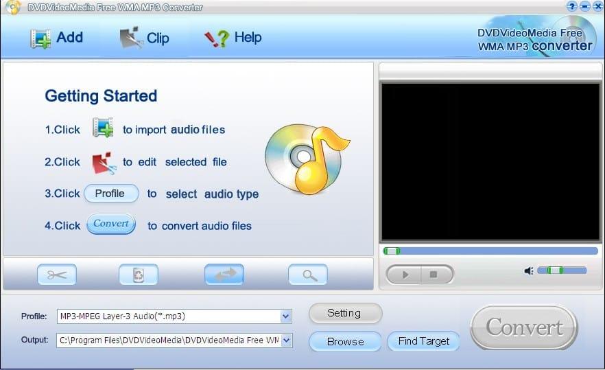 DVDVideoMedia Free WMA MP3 Converter