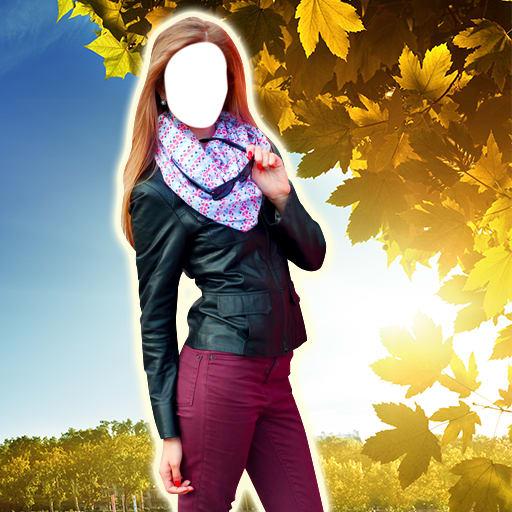 Woman Jacket Photo Montage