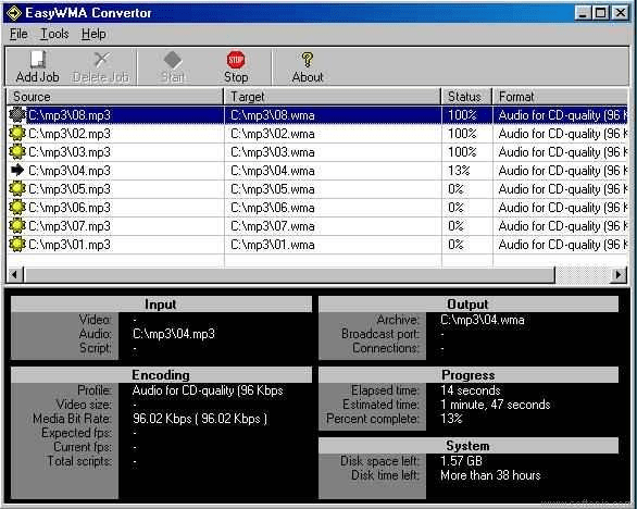 EasyWMA Converter