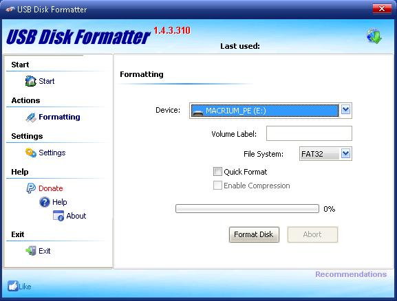KORO USB Disk Formatter 1.4.3.310