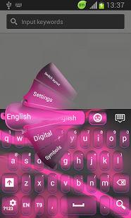 Pink Neon color del teclado