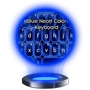 Blue Neon Color Keyboard 3.6