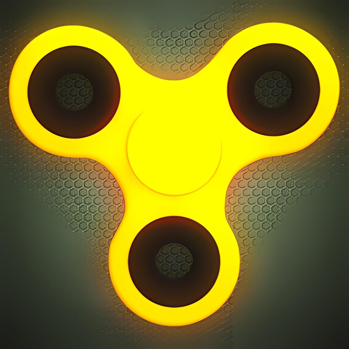 Fidget Spinner Wheel Neon Glow