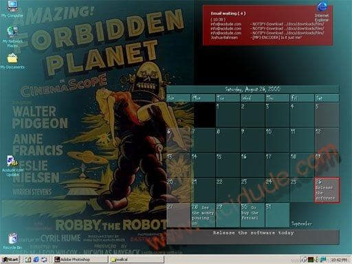 Acidude Wallpaper Calendar