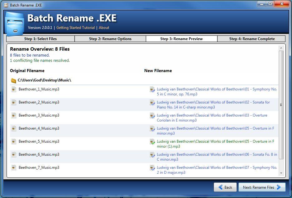 Batch Rename .EXE