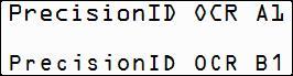 PrecisionID OCR-A and OCR-B Fonts