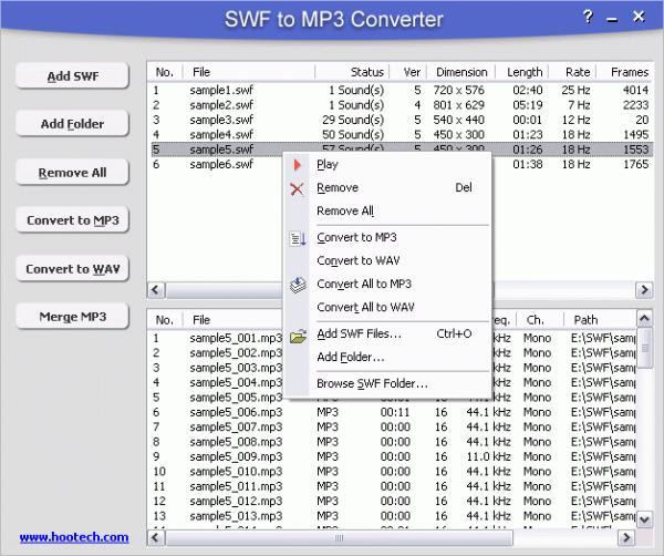 SWF to MP3 Converter