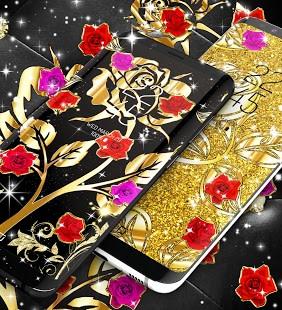 Gold rose live wallpaper