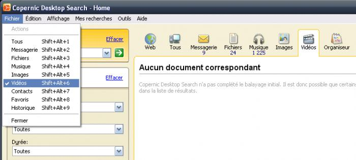 Copernic Desktop Search Home