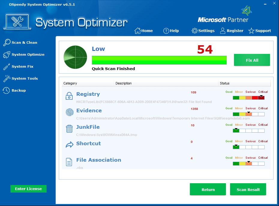 OSpeedy System Optimizer