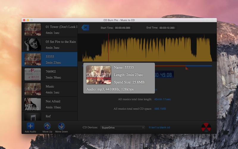 CD Burn Pro - Music CD Lite