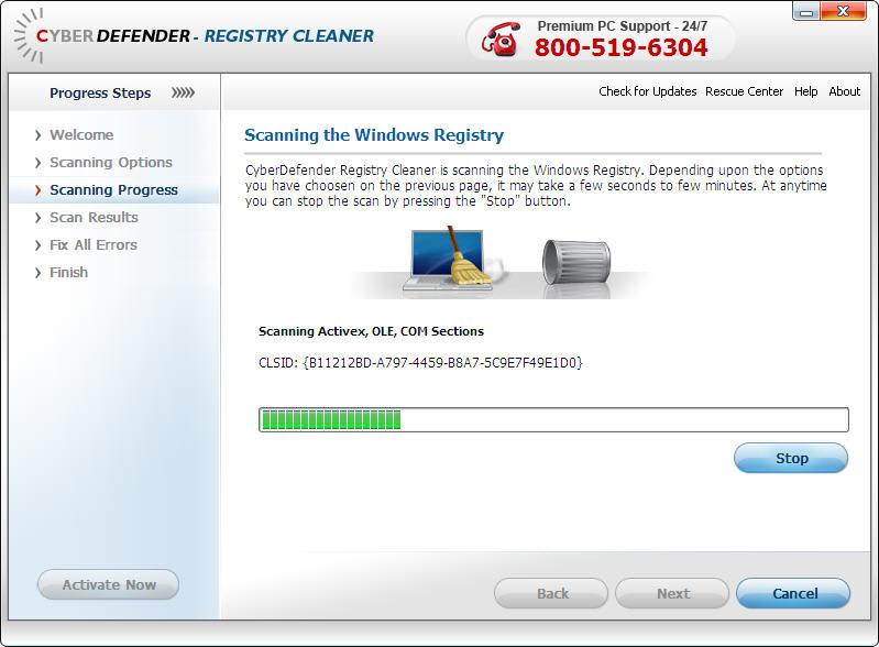 CyberDefender Registry Cleaner
