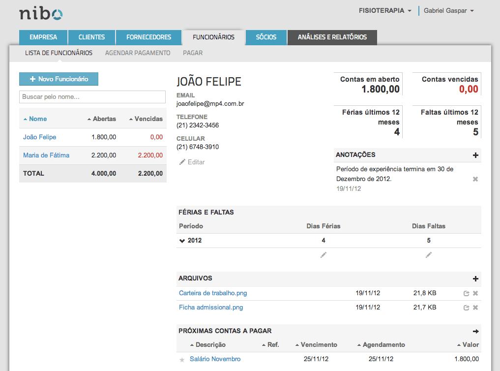 Nibo Software de Gestão Financeira