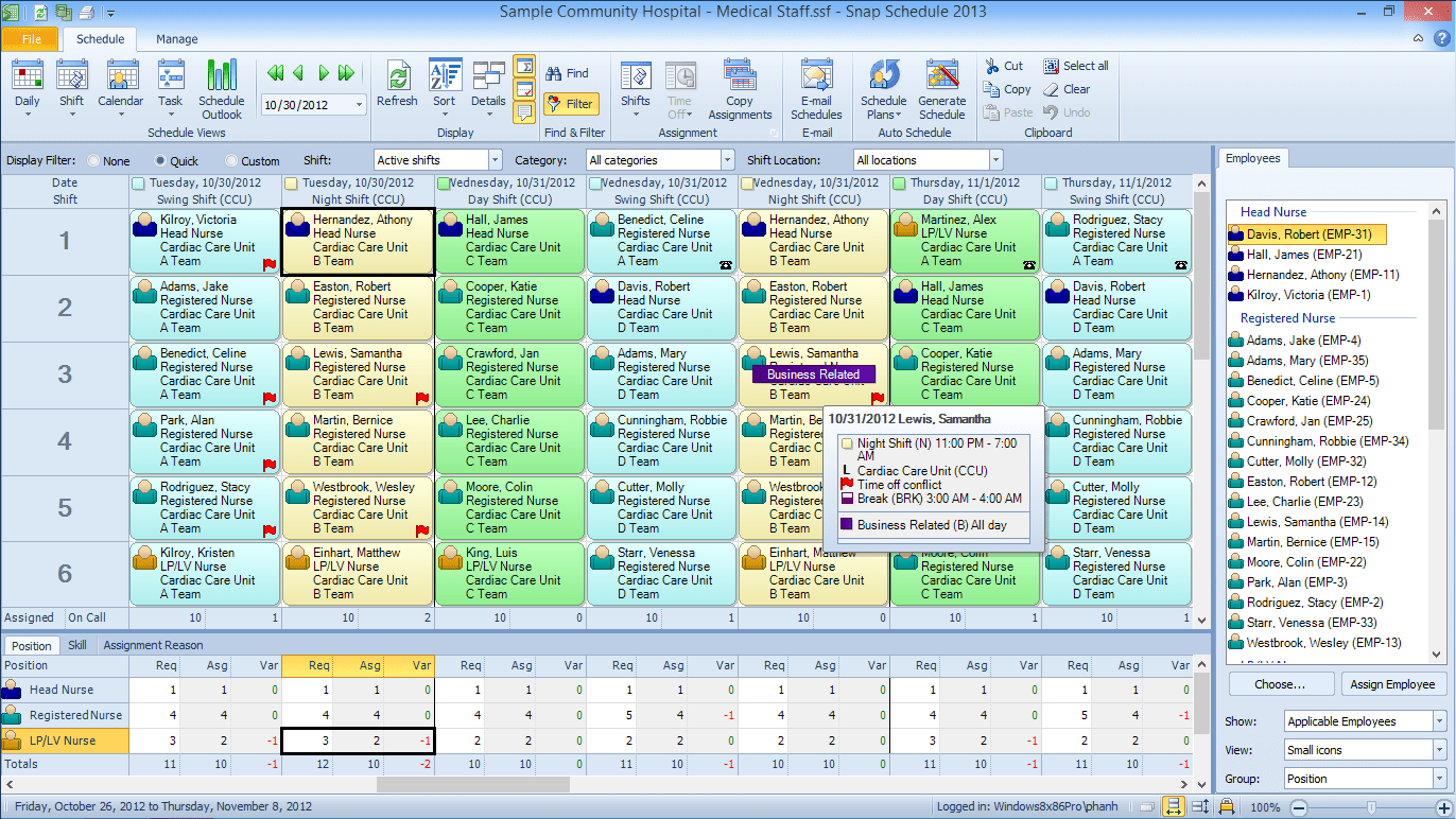 Snap Schedule