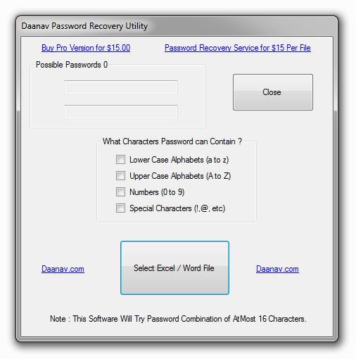 Daanav Password Recovery Utility