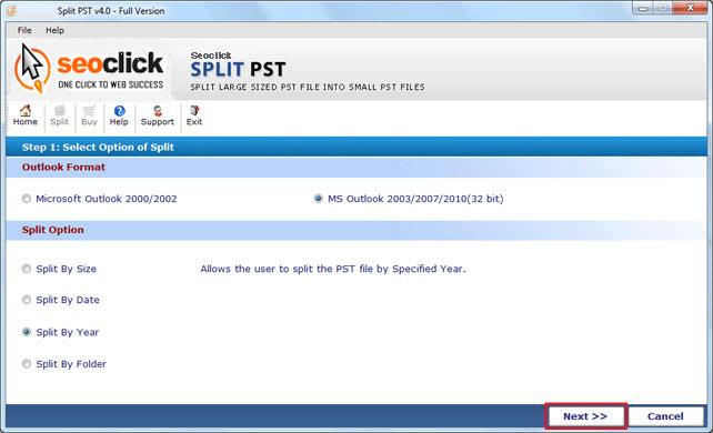 Split PST Software