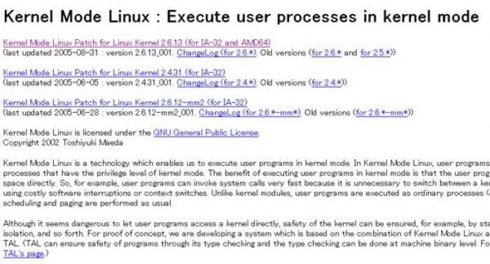 Kernel Mode Linux