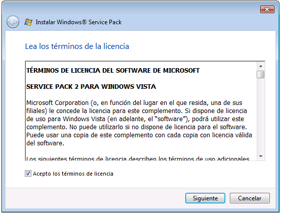 Service Pack 2 voor Windows Vista