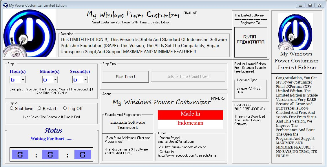 My Windows Power Costumizer