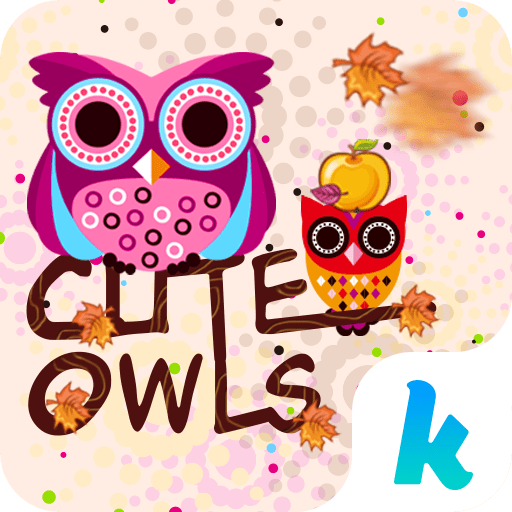 Cute Owls Emoji Keyboard Theme