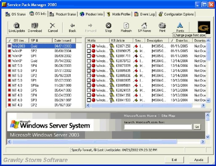 Service Pack Manager 2000