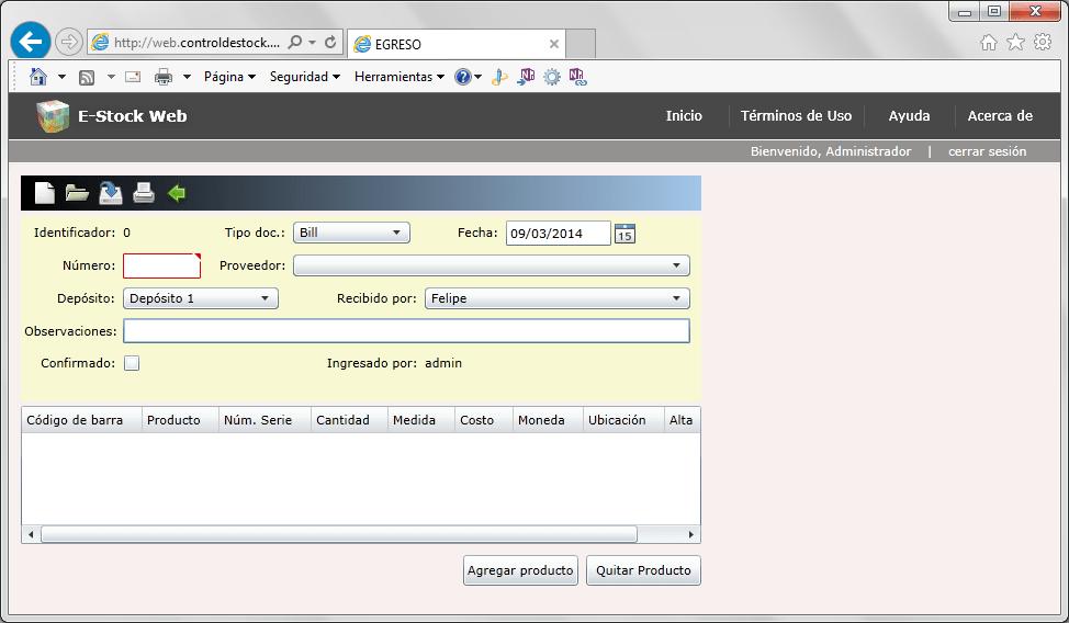 E-Stock Web