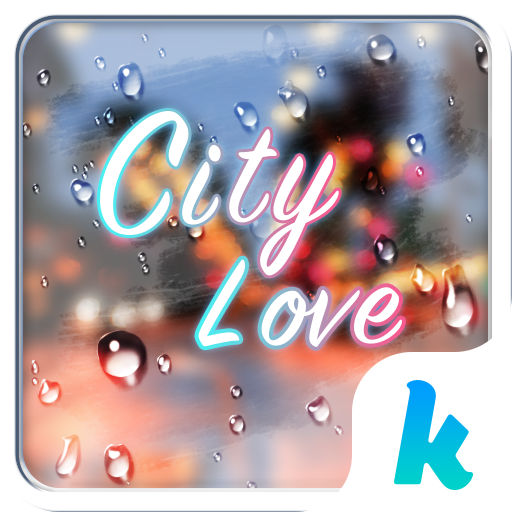 City Love Emoji Keyboard Theme
