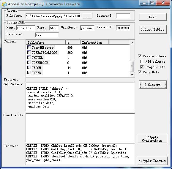 Access To PostgreSQL Converter