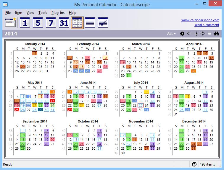 Calendarscope Portable Edition