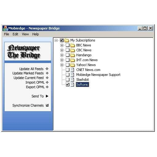 Mobiedge Newspaper: Wireless/Wired RSS Reader