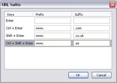 URL Suffix