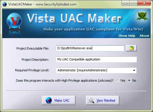VistaUACMaker