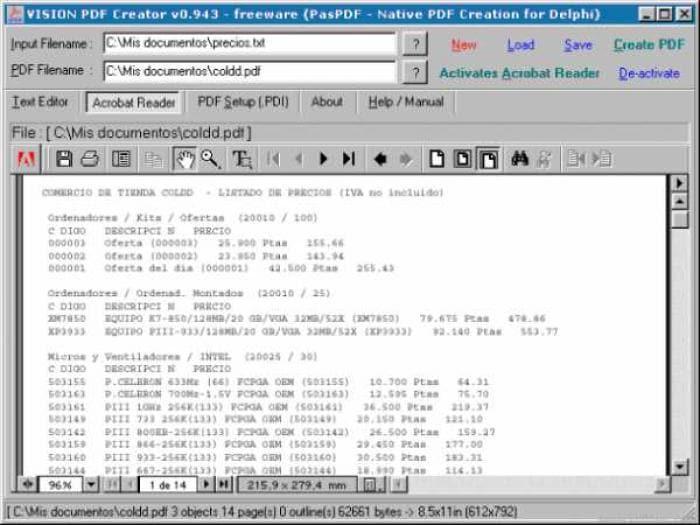 Vision PDF Creator