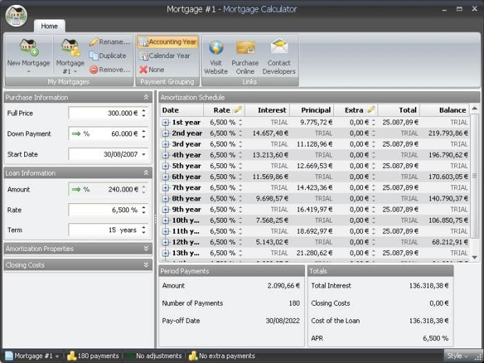 MoneyGreen Mortgage Calculator