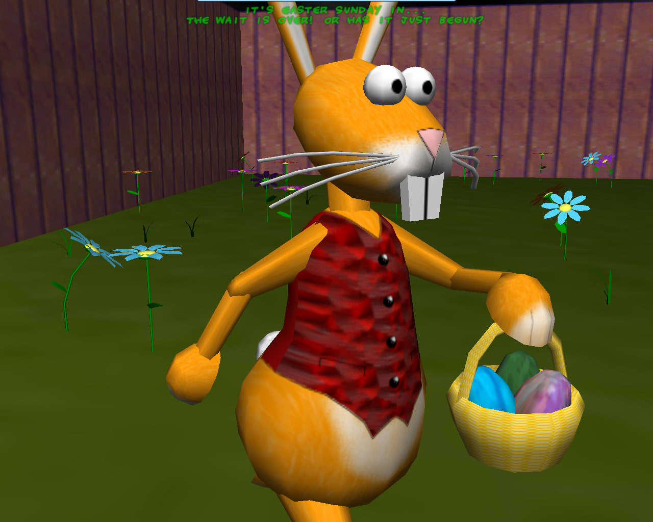 An eggstremely 3D Easter Screensaver