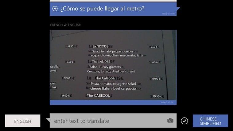 Bing Translator para Windows 10