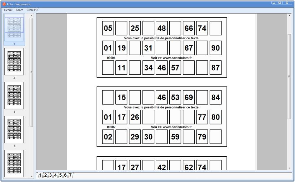 Carte de loto jeu de loto t l charger for Des cartons pour demenager
