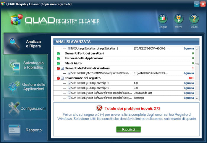 QUAD Registry Cleaner