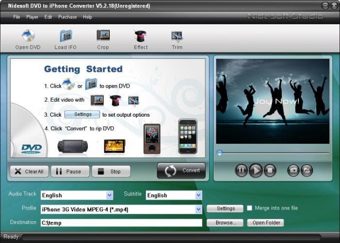 Nidesoft DVD to iPhone Converter