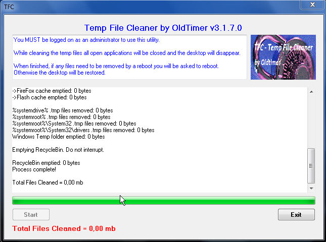Temp File Cleaner